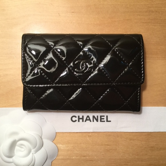 c1e1e63b5bad CHANEL Accessories | Black Patent Quilted Cardholder Wallet | Poshmark